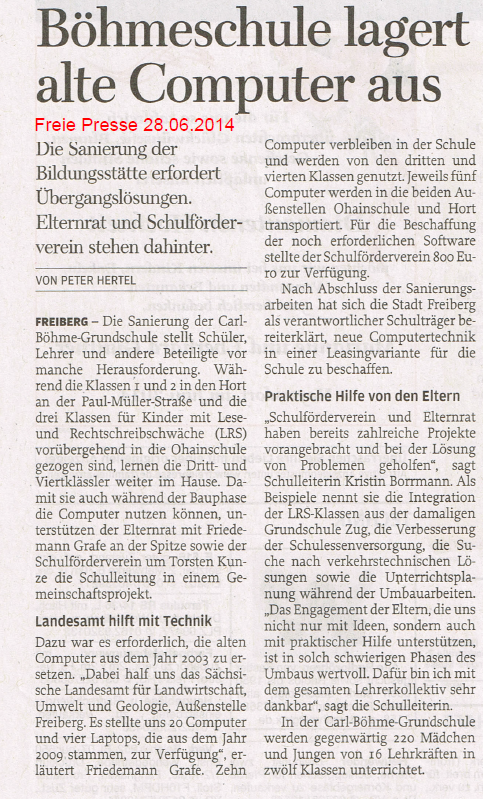 Freiepresse_28.06.2014